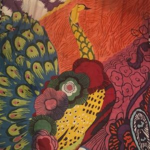 Anthro Peacock Twin Quilt Set